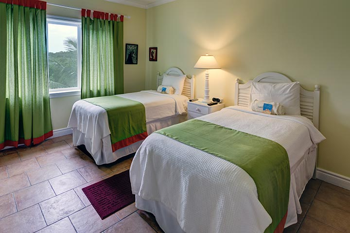 Two Twin Beds in Guest Bedroom of Two Bedroom Condo. Two Bedroom Condo   Pineapple Fields Resort   Eleuthera Bahamas