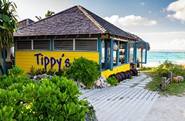 Tippy's Restaurant on Bank's Road, Eleuthera